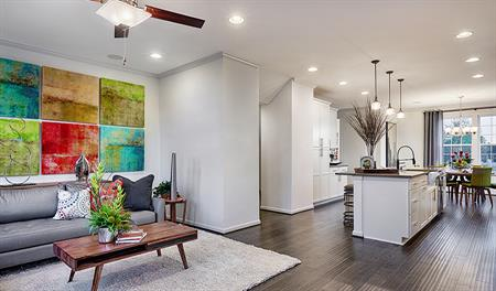 Great room and kitchen of the Kingsley floor plan