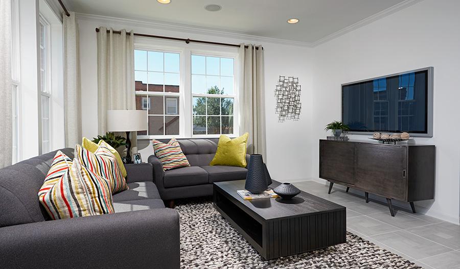 Living room of the Kingsley floor plan