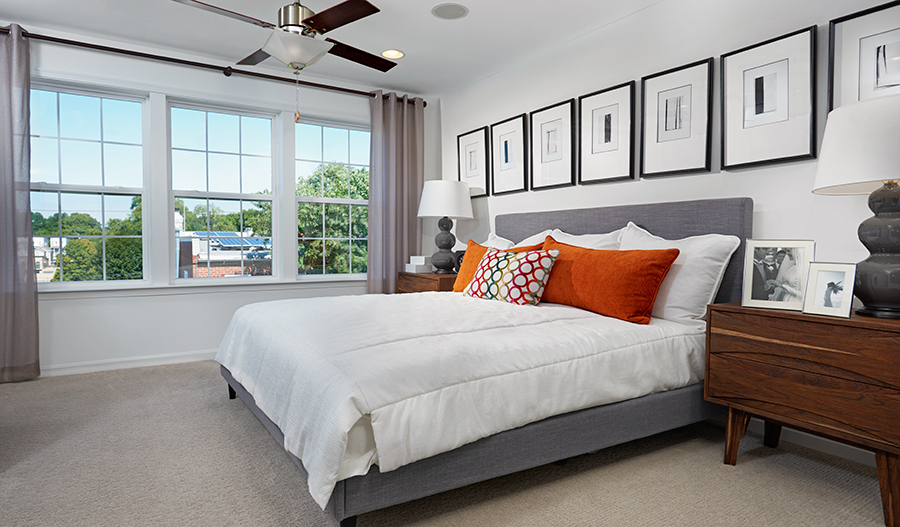 Master bedroom of the Kingsley floor plan