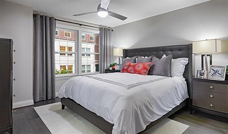 Master bedroom of the Kinsey floor plan