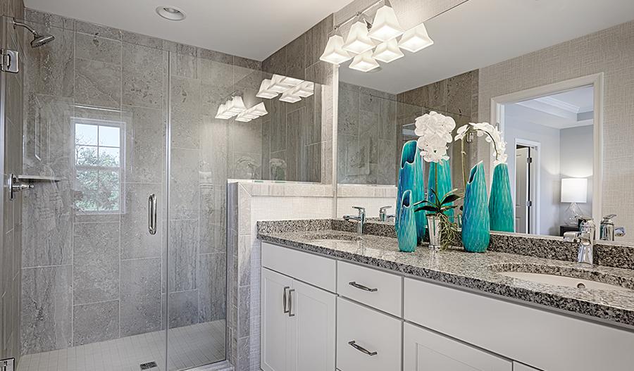Master bathroom of the Kyla floor plan