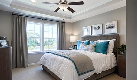 Master bedroom of the Kyla floor plan