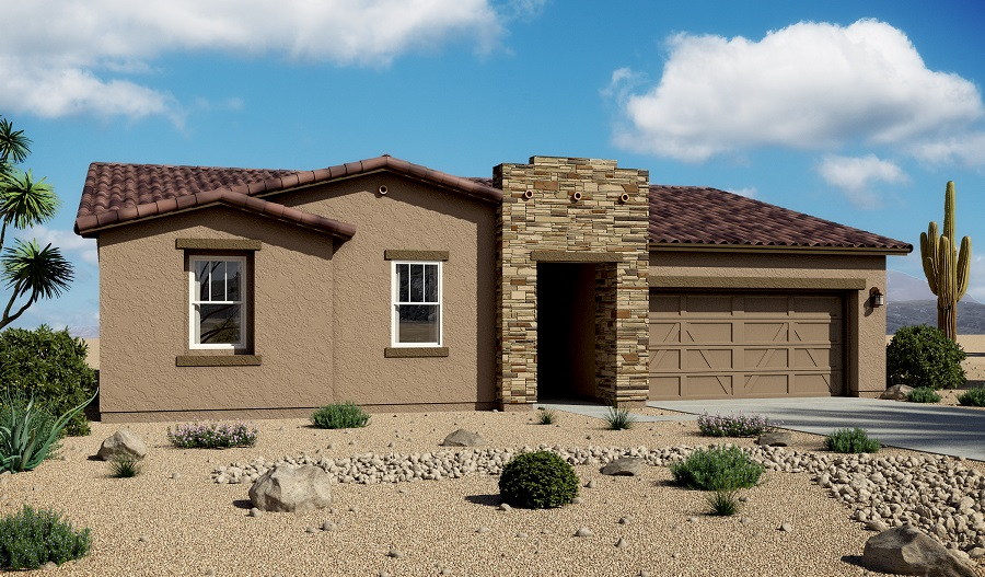 Exterior B of the Daniel floor plan in the Santa Cruz Meadows community