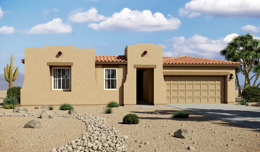 Exterior A of the Denise floor plan in the Santa Cruz Meadows community