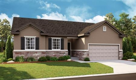 Exterior B of the Bryce floor plan in the Newman Ranch community