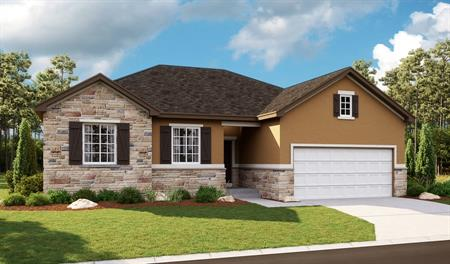 Exterior E of the Bryce floor plan in the Newman Ranch community