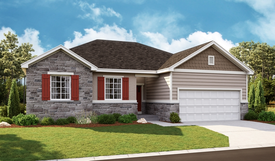 Exterior F of the Bryce floor plan in the Newman Ranch community