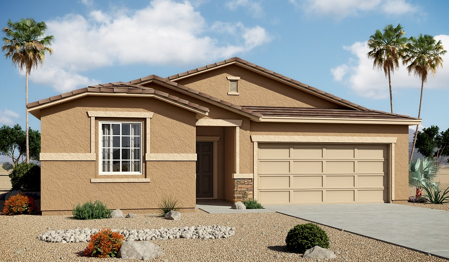Exterior B of the Stephen floor plan in the Edgefield community