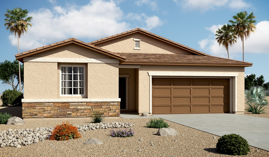 Exterior B of the Sarah floor plan in the Edgefield community
