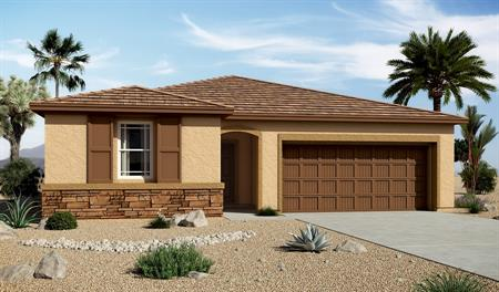 Exterior C of the Sarah floor plan in the Edgefield community