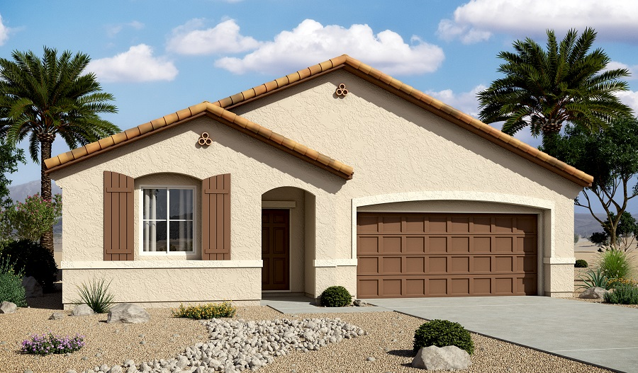 Exterior A of the Arabelle floor plan in the Edgefield community