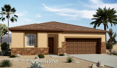 Exterior C of the Arabelle floor plan in the Edgefield community