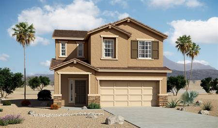 Exterior B of the Lawson floor plan in the Edgefield community