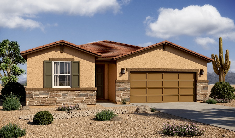 Exterior B of the Augusta floor plan in the Mountain Vail Ranch II community