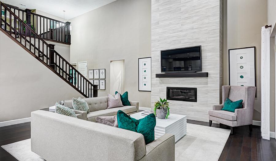 Great room in the Jessica floor plan