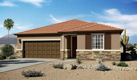 Exterior C of the Arlington floor plan in the Linda Vista Heights community