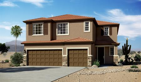 Exterior C of the Yorktown floor plan in the Linda Vista Heights community