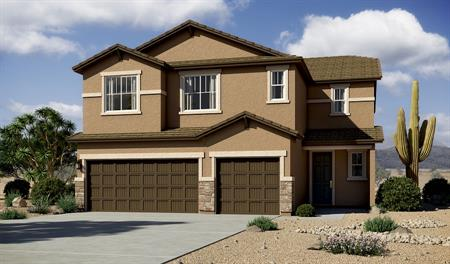 Exterior B of the Yorktown floor plan in the Linda Vista Heights community