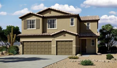 Exterior A of the Yorktown floor plan in the Linda Vista Heights community