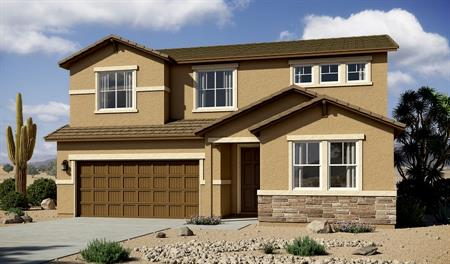 Exterior B of the Hopewell floor plan in the Linda Vista Heights community