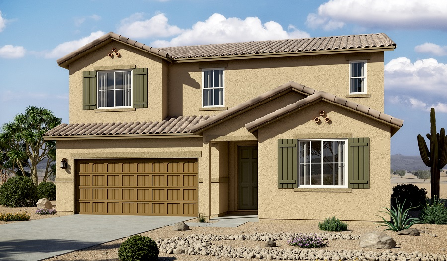 Exterior A of the Hopewell floor plan in the Linda Vista Heights community