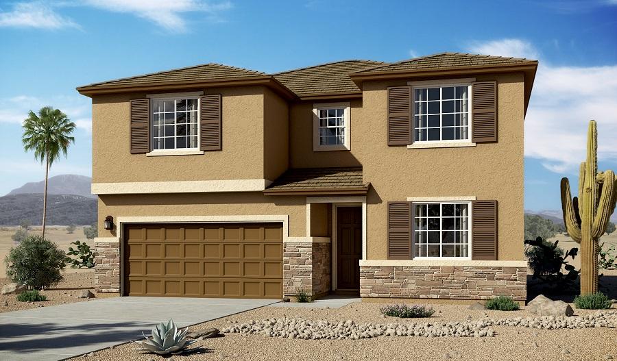 Exterior C of the Coronado floor plan in the Linda Vista Heights community