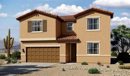 Exterior A of the Coronado floor plan in the Linda Vista Heights community