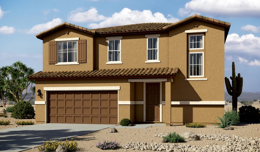 Exterior A of the Bedford floor plan in the Linda Vista Heights community