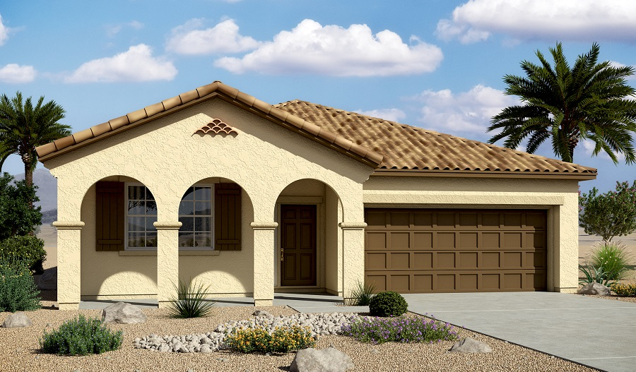 Exterior A of the Anika floor plan in the Centennial Valley community