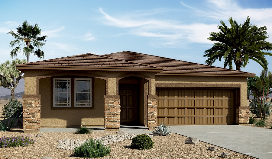 Exterior C of the Anika floor plan in the Centennial Valley community