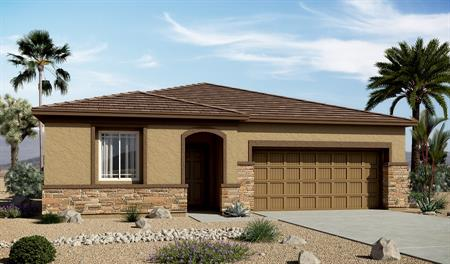 Exterior C of the Arabelle floor plan in the Centennial Valley floor plan