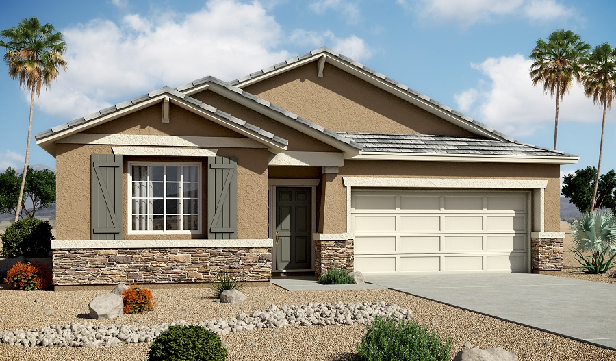 Exterior B of the Avalon floor plan in the Centennial Valley community
