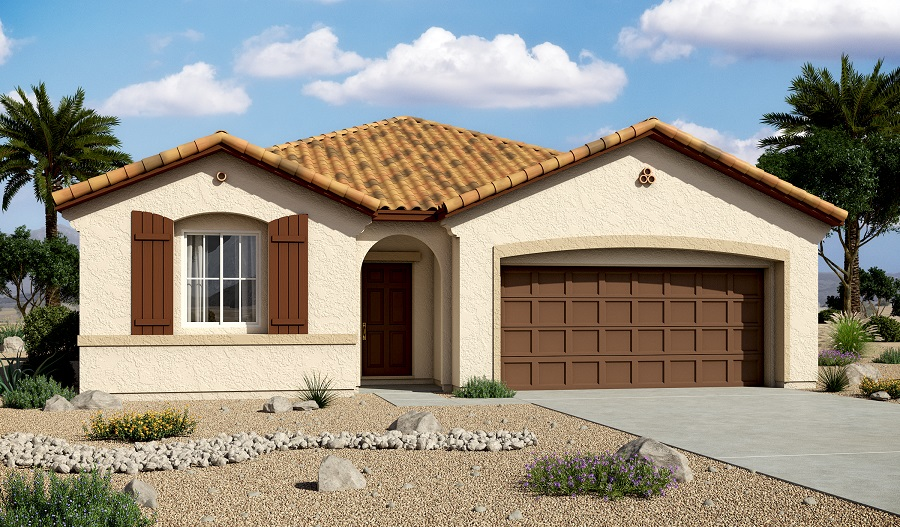 Exterior A of the Samantha floor plan in the Centennial Valley community