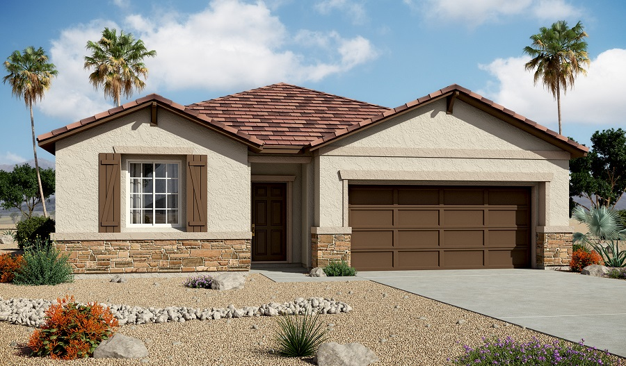 Exterior B of the Samantha floor plan in the Centennial Valley community