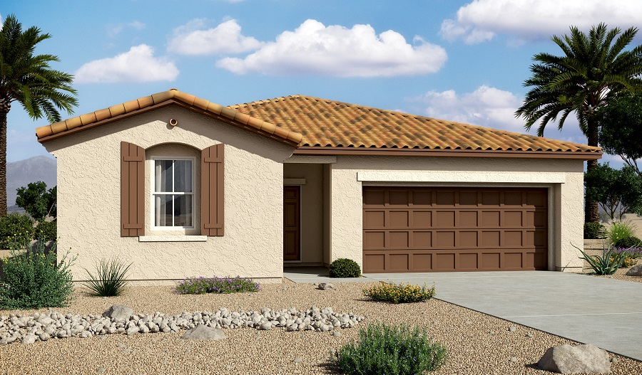 Exterior A of the Sarah floor plan in the Centennial Valley community