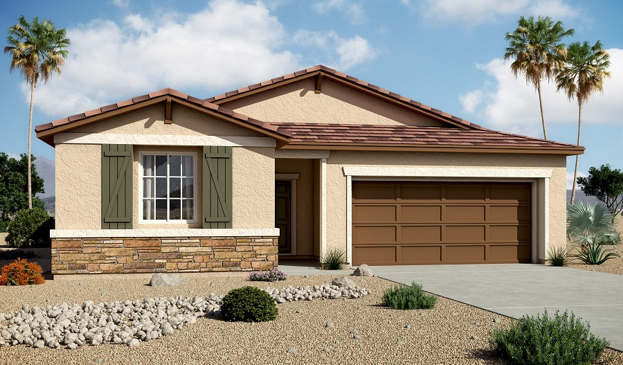 Exterior B of the Sarah floor plan in the Centennial Valley community
