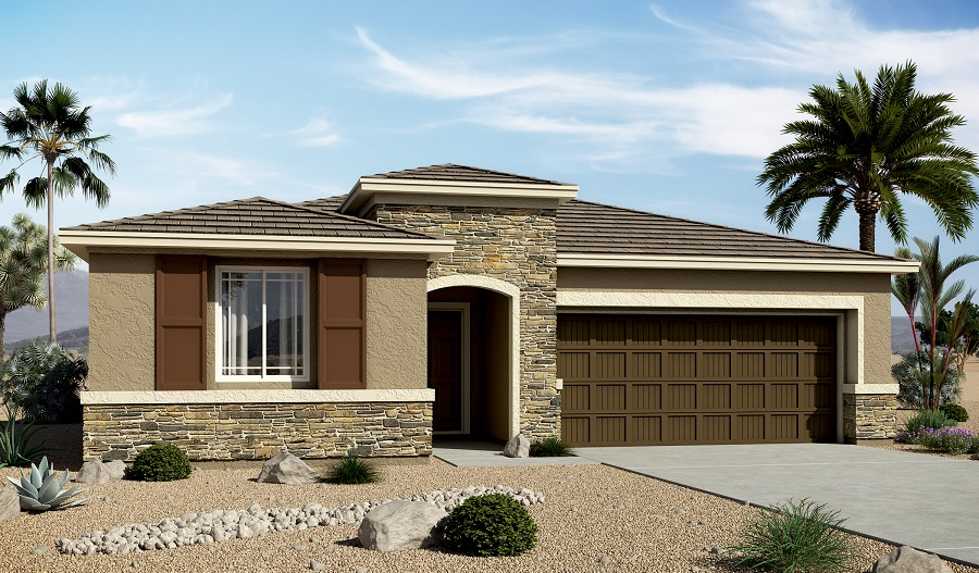 Exterior C of the Stephen floor plan in the Centennial Valley community