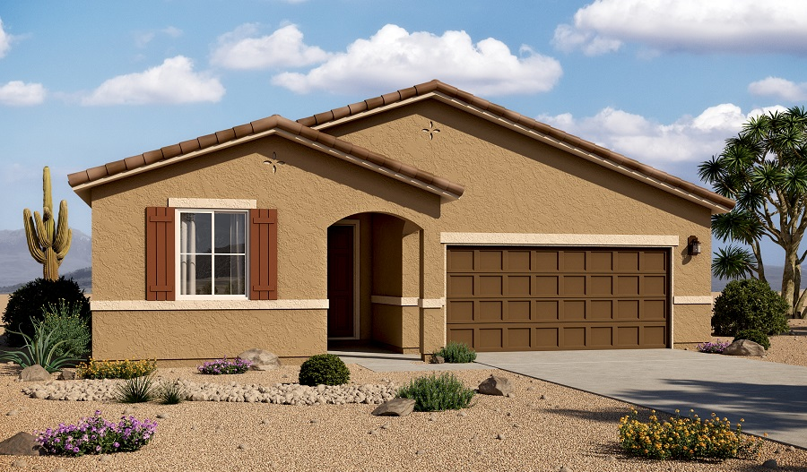 Exterior A of the Augusta floor plan in the Linda Vista Heights community