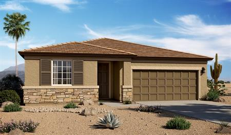 Exterior C of the Raleigh floor plan in the Linda Vista Heights community