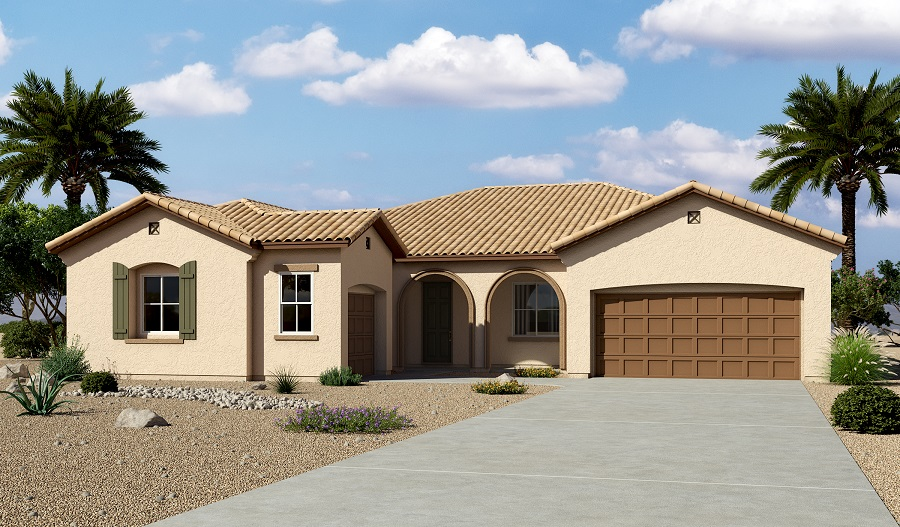 Exterior A of the Hanford floor plan in the Arlington Hills community