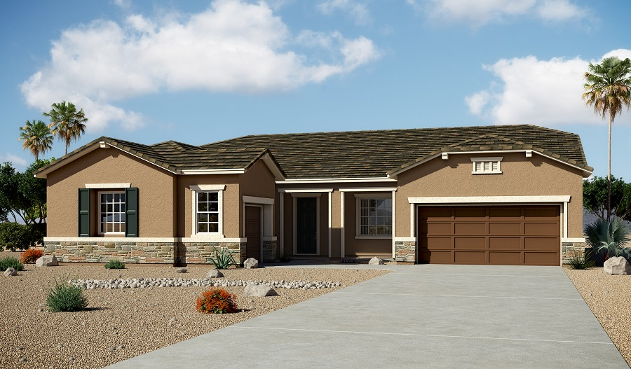 Exterior B of the Hanford floor plan in the Arlington Hills community