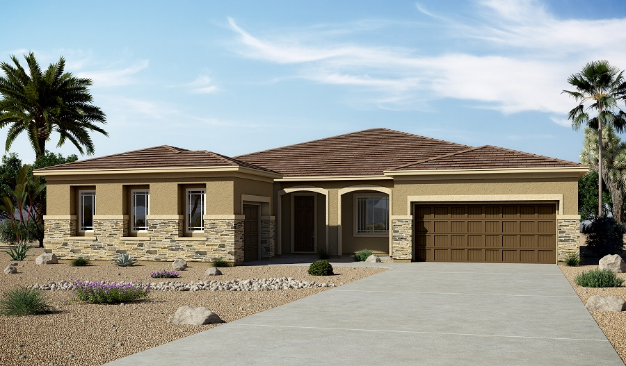 Exterior C of the Hanford floor plan in the Arlington Hills community