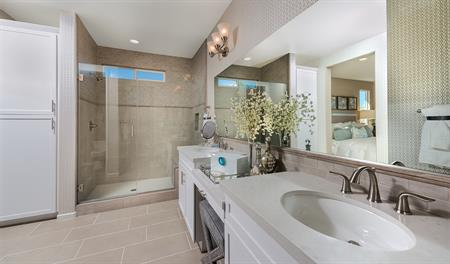Master bathroom in the Paige floor plan