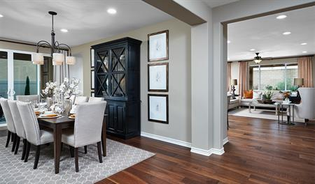 Dining room in the Julia floor plan