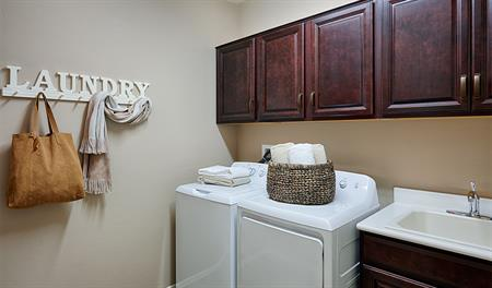 Laundry room in the Arlington floor plan