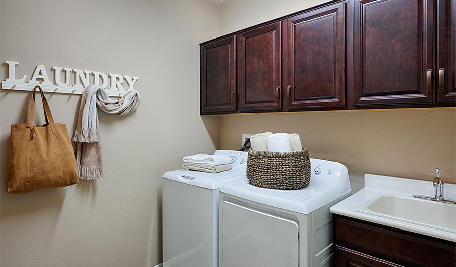 Laundry room in the Arlington floor plan