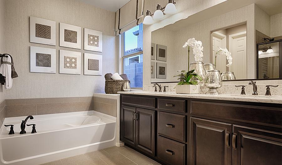 Master bathroom in the Arlington floor plan