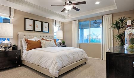 Master bedroom of the Arlington floor plan