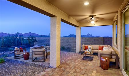 Covered patio of the Arlington floor plan