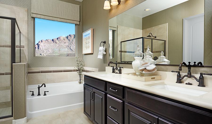 Master bathroom in the Dominic floor plan